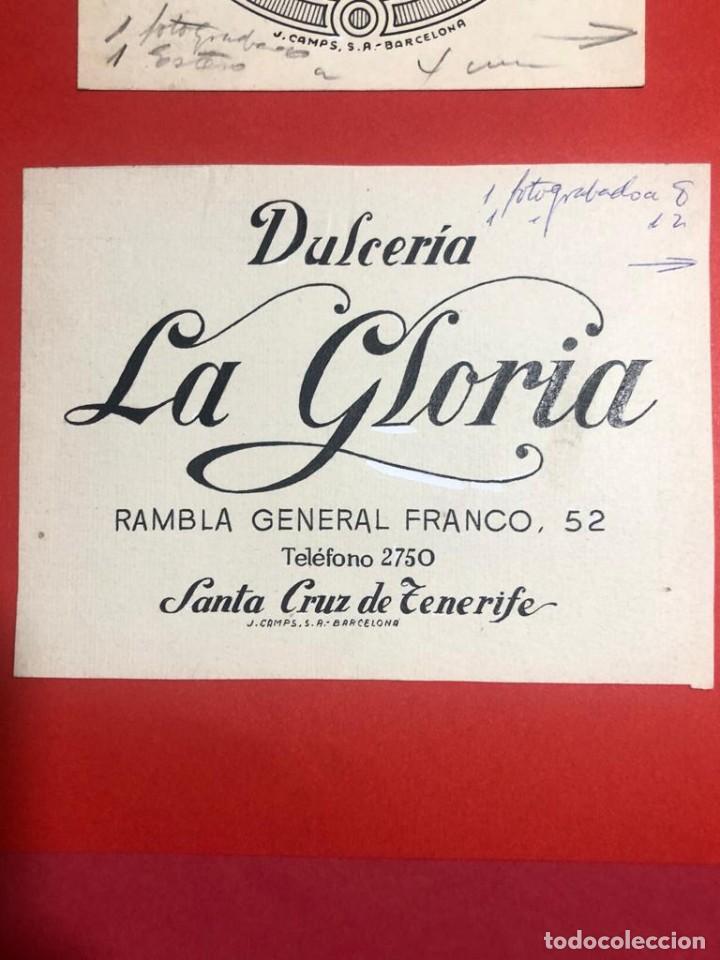 DIBUJO ORIGINAL PARA PUBLICIDAD. DULCERÍA LA GLORIA (SANTA CRUZ DE TENERIFE) (Coleccionismo - Catálogos Publicitarios)