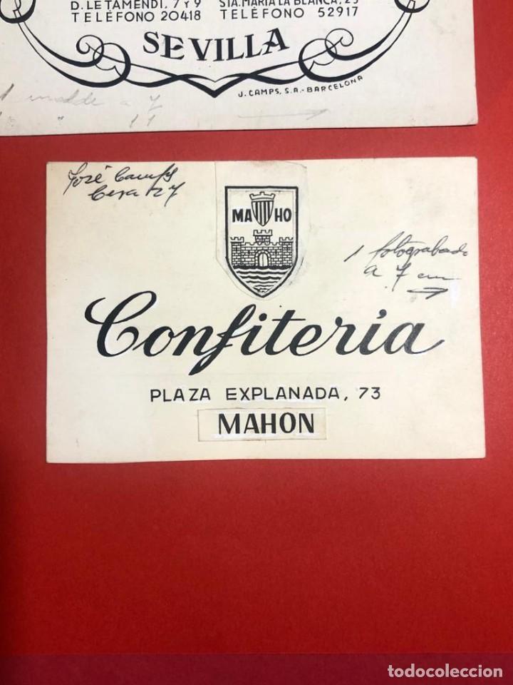 DIBUJO ORIGINAL PARA PUBLICIDAD. CONFITERÍA (MAÓ) (Coleccionismo - Catálogos Publicitarios)