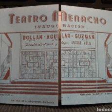 Catálogos publicitarios: PROGRAMA DE INAUGURACIÓN DEL TEATRO MÓNACO. BADAJOZ 1941. FACSÍMIL. Lote 235161705