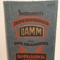 Catálogos publicitarios: DAMM Y LADWID. VELBERT. CATALOGO CERADURAS Y LLAVES. ALEMAN, AÑO 1922.. Lote 235847800