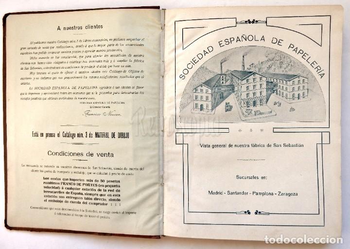 Catálogos publicitarios: CATÁLOGO Nº 2 OBJETOS DE ESCRITORIO. SOCIEDAD ESPAÑOLA DE PAPELERÍA AÑO 1910 SAN SEBASTIÁN - MADRID - Foto 4 - 236249540