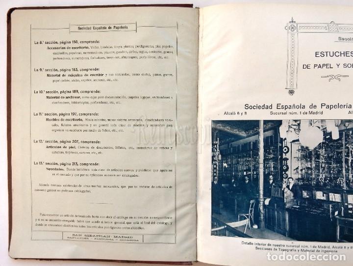 Catálogos publicitarios: CATÁLOGO Nº 2 OBJETOS DE ESCRITORIO. SOCIEDAD ESPAÑOLA DE PAPELERÍA AÑO 1910 SAN SEBASTIÁN - MADRID - Foto 6 - 236249540