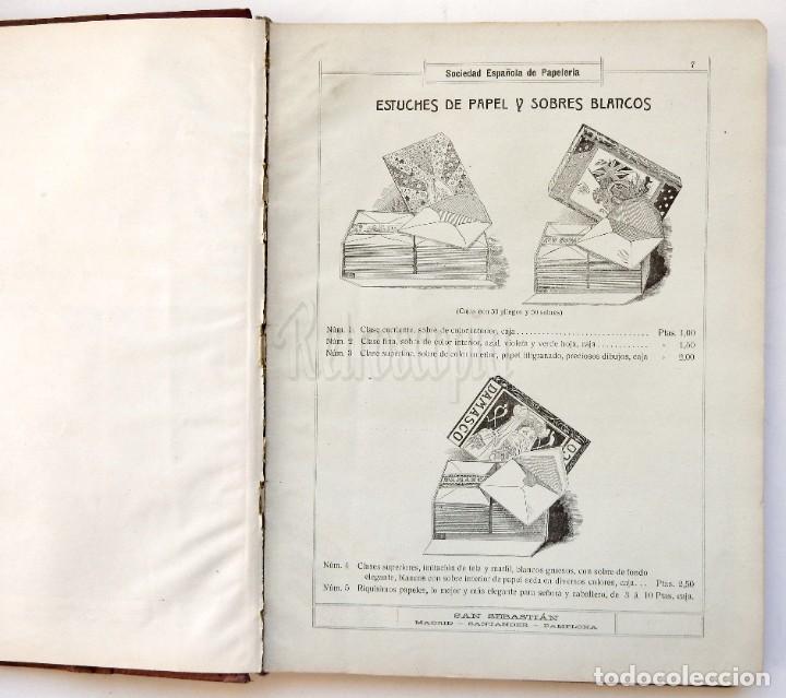 Catálogos publicitarios: CATÁLOGO Nº 2 OBJETOS DE ESCRITORIO. SOCIEDAD ESPAÑOLA DE PAPELERÍA AÑO 1910 SAN SEBASTIÁN - MADRID - Foto 7 - 236249540