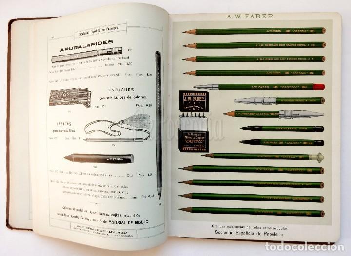 Catálogos publicitarios: CATÁLOGO Nº 2 OBJETOS DE ESCRITORIO. SOCIEDAD ESPAÑOLA DE PAPELERÍA AÑO 1910 SAN SEBASTIÁN - MADRID - Foto 10 - 236249540