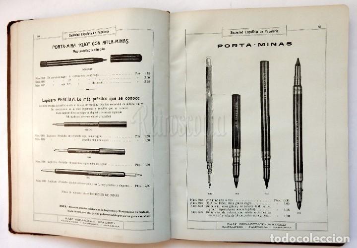 Catálogos publicitarios: CATÁLOGO Nº 2 OBJETOS DE ESCRITORIO. SOCIEDAD ESPAÑOLA DE PAPELERÍA AÑO 1910 SAN SEBASTIÁN - MADRID - Foto 11 - 236249540
