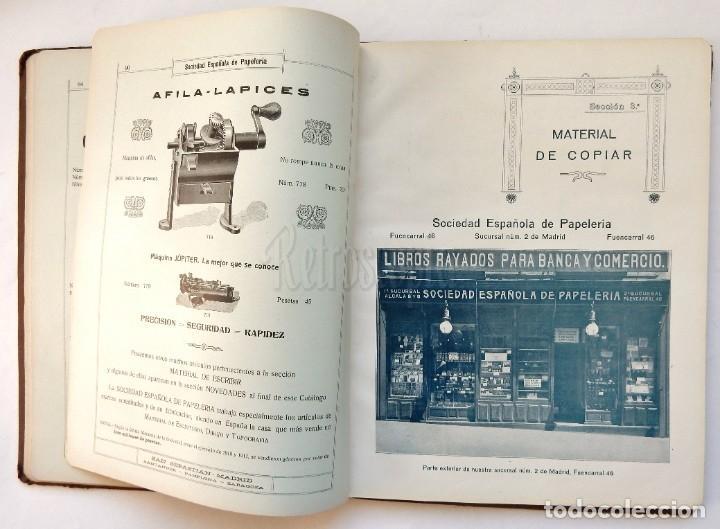 Catálogos publicitarios: CATÁLOGO Nº 2 OBJETOS DE ESCRITORIO. SOCIEDAD ESPAÑOLA DE PAPELERÍA AÑO 1910 SAN SEBASTIÁN - MADRID - Foto 12 - 236249540