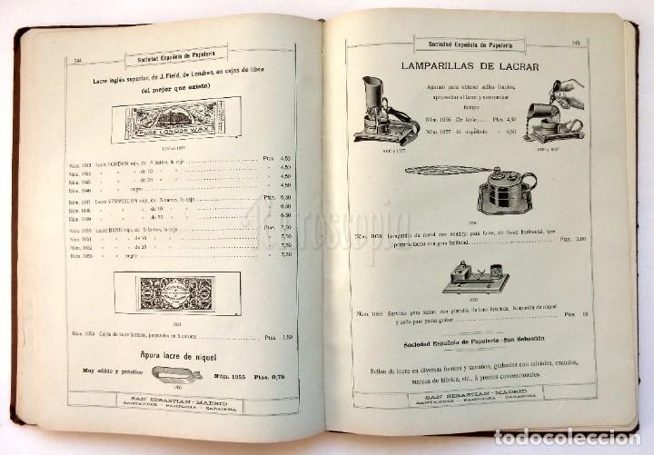 Catálogos publicitarios: CATÁLOGO Nº 2 OBJETOS DE ESCRITORIO. SOCIEDAD ESPAÑOLA DE PAPELERÍA AÑO 1910 SAN SEBASTIÁN - MADRID - Foto 13 - 236249540