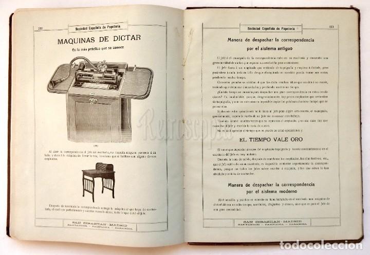 Catálogos publicitarios: CATÁLOGO Nº 2 OBJETOS DE ESCRITORIO. SOCIEDAD ESPAÑOLA DE PAPELERÍA AÑO 1910 SAN SEBASTIÁN - MADRID - Foto 16 - 236249540