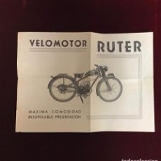 Catalogues publicitaires: RUTER VELOMOTOR, ANTIGUA PUBLICIDAD. Lote 236318280