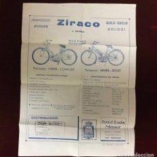 Catalogues publicitaires: ZIRACO VELOMOTOR, ANTIGUA PUBLICIDAD. Lote 236324465