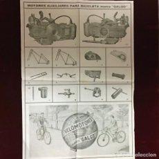 Catalogues publicitaires: VELOMOTORES GALGO, ANTIGUA PUBLICIDAD. Lote 236327115