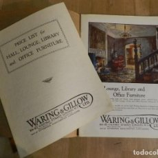 Catálogos publicitarios: ANTIGUO CATÁLOGO DISEÑO MUEBLES WARING & GILLOW LTD CIRCA 1900 ORIGINAL MUEBLE EBANISTERÍA MADERA. Lote 241194795