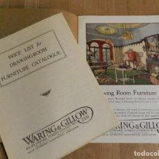Catálogos publicitarios: ANTIGUO CATÁLOGO DISEÑO MUEBLES WARING & GILLOW LTD CIRCA 1900 ORIGINAL VITRINA EBANISTERÍA MADERA. Lote 241197240