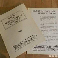 Catálogos publicitarios: ANTIGUO CATÁLOGO DISEÑO MUEBLES WARING & GILLOW LTD CIRCA 1900 ORIGINAL OBJETOS LUJO ORIENTAL. Lote 241199640