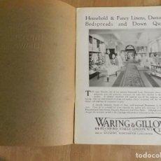 Catálogos publicitarios: ANTIGUO CATÁLOGO DISEÑO MUEBLES WARING & GILLOW LTD CIRCA 1900 ORIGINAL CONFECCION TELAS MESA COLCHA. Lote 241199985