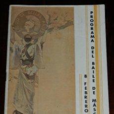 Catálogos publicitarios: PROGRAMA DE EL CIRCULO DE BELLAS ARTES 1932, PROGRAMA DEL BAILE DE MASCARAS 8 DE FEBRERO DE 1932, TI. Lote 241670505