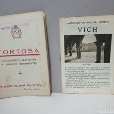 Catalogues publicitaires: VICH Y TORTOSA. PATRONATO NACIONAL DE TURISMO. EPOCA REPUBLICA ESPAÑOLA.. Lote 243638150