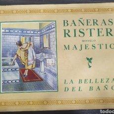 Catálogos publicitarios: CATÁLOGO DE BAÑERAS RISTER ESTILO ART DECÓ 12 PÁGINAS. Lote 243865980
