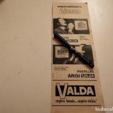 Catálogos publicitários: PASTILLAS PARA RESFRIADOS ANGI VALDA ANUNCIO PUBLICIDAD REVISTA AÑO 1968. Lote 245112145