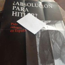 Catálogos publicitarios: CARTEL PUBLICIDAD LIBRO ABSOLUCIÓN PARA HITLER, GERD HONSIK REF. UR EST. Lote 245173505