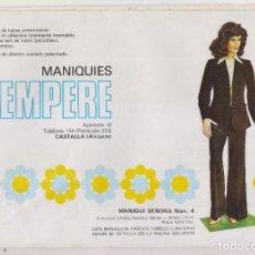 Catalogues publicitaires: CATÁLOGO DE MANIQUÍES SEMPERE. CASTALLA, ALICANTE. MODA. HACIA 1977. Lote 245299700