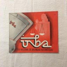 Catalogues publicitaires: DIPTICO PUBLICITARIO. INBA. INDUSTRIA NACIONAL DE BALANZAS AUTOMÁTICAS. ILUSTRACIÓN DE MAT. AÑOS 30. Lote 245958345