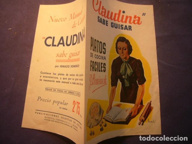 - CLAUDINA SABE GUISAR - (PUBLICIDAD DEL LIBRO) (Coleccionismo - Catálogos Publicitarios)