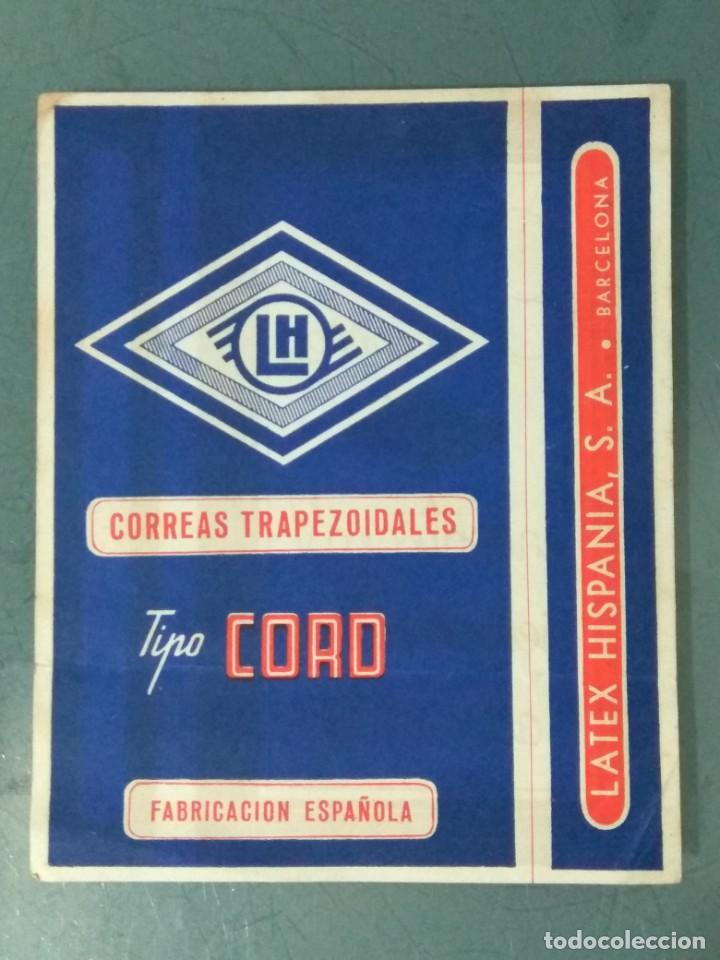 CORREAS TRAPEZOIDALES - LATEX. HISPANIA. PUBLICIDAD. (Coleccionismo - Catálogos Publicitarios)