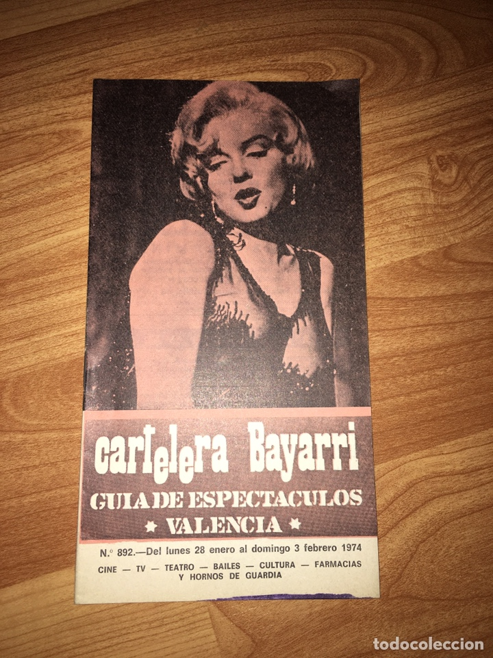 CARTELERA BAYARRI - MARILYN MONROE (Coleccionismo - Catálogos Publicitarios)