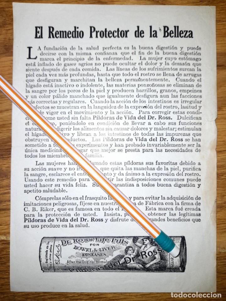 Catálogos publicitarios: Publicidad antigua Pastillas de vida del Dr Pills años 20 ? - Foto 2 - 246081995