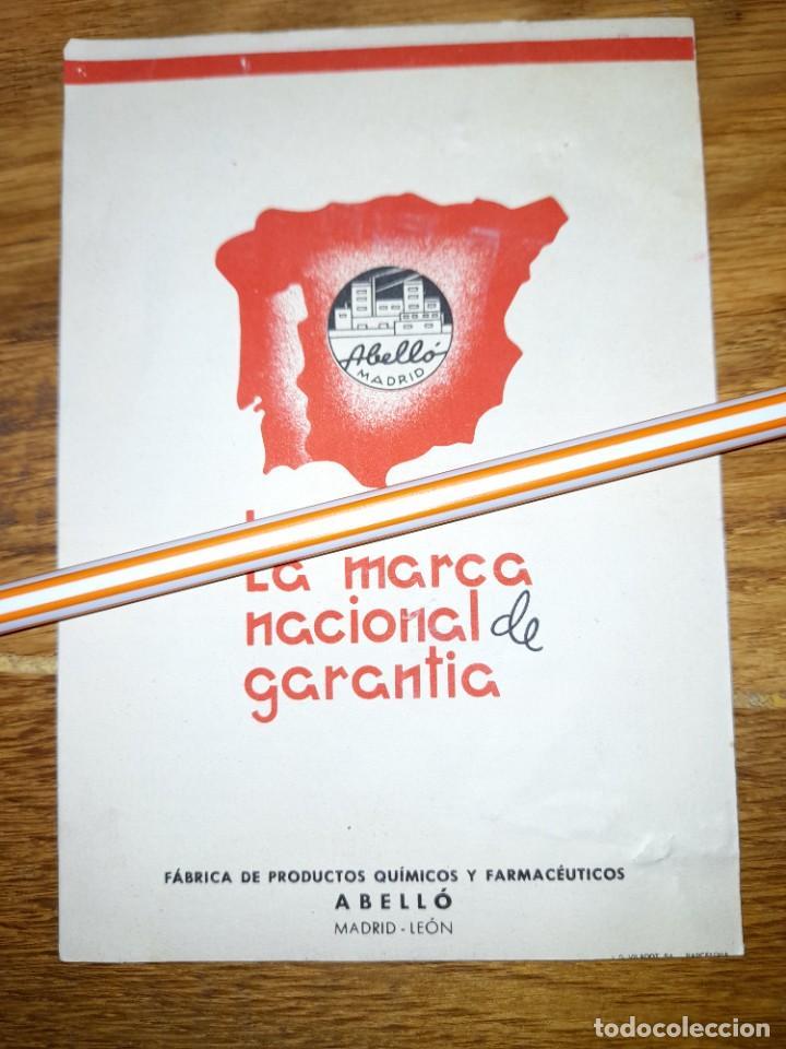 Catálogos publicitarios: Publicidad antigua Acinormal años 40 o 50 ? Laboratorios Abelló de Madrid y León - Foto 3 - 246083985