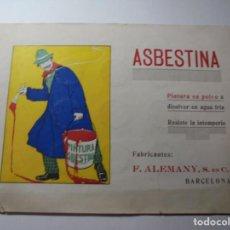 Catálogos publicitarios: MAGNIFICO ANTIGUO CATALOGO PUBLICITARIO ASBESTINA PINTURA EN POLVO. Lote 246143290