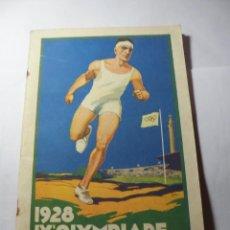Catálogos publicitários: MAGNIFICO LIBRILLO ANTIGUO IX OLYMPIADAS DE AMSTERDAM 1928. Lote 246187345