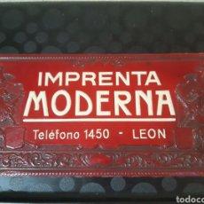 Catálogos publicitarios: CARTÓN PROPAGANDA IMPRENTA MODERNA DE LEÓN. Lote 246547475