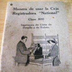 Catálogos publicitarios: PRECIOSO MANUAL INSTRUCCIONES USO CAJA REGISTRADORA NATIONAL . CLASE 800 .48 PAG CON ILUSTRACIONES. Lote 246729880