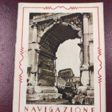 Catálogos publicitarios: SERVICIOS MARITIMOS NAVIGAZIONE GENERALE ITALIANA 1929 - 8P.+2P 14X9. Lote 247300550