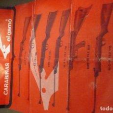 Catálogos publicitarios: ANTIGUOCATALOGO CARABINAS DE AIRE COMPRIMIDO EL GAMO. Lote 248015185