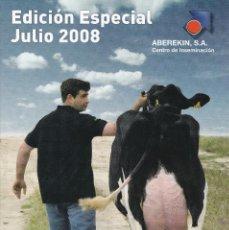 Catálogos publicitarios: CATALOGO DE SEMENTALES VACUNOS DE LECHE DE ABEREKIN EDICION ESPECIAL JULIO DE 2008. Lote 250132725