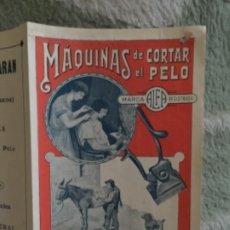 Catálogos publicitarios: ANTIGUO CATALOGO PUBLICITARIO , MAQUINAS DE CORTAR ELO Y ESQUILAR ALFA. Lote 251060130
