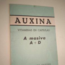 Catálogos publicitarios: PUBLICIDAD MEDICAMENTO - AUXINA LABORATORIOS GAYOSO. Lote 252055175