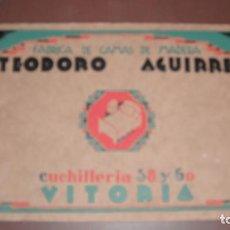 Cataloghi pubblicitari: CATALOGO FABRICA DE CAMAS TEODORO AGUIRRE 1931 VITORIA. Lote 252384880