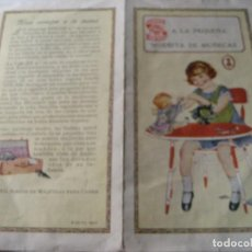 Catálogos publicitarios: BONITO CATALOGO PUBLICIDAD MAQUINA COSER SINGER Nº 20 AÑO 1928 . PARA NIÑAS . MODISTA DE MUÑECAS. Lote 252565715