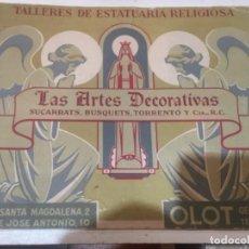 Catálogos publicitarios: OLOT - ANTIGUO CATÁLOGO TALLERES DE ESTATUARIA RELIGIOSA SUCARRATS , BUSQUETS, TORRENTÓ Y CÍA - LAS. Lote 252658850