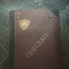 Catálogos publicitarios: CASTELLBELL I EL VILAR - ANTIGUO CATALOGO 1935 HILADOS Y TEJIDOS DE FRANCISCO BURÉS - CAMISERIA. Lote 253242195