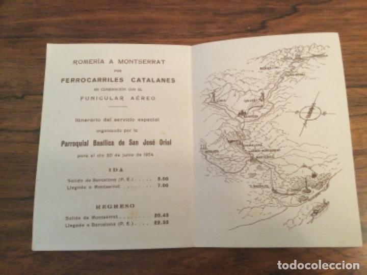 Catálogos publicitarios: COMPAÑIA GENERAL DE FERROCARRILES CATALANES - ROMERIA A MONTSERRAT, TREN FUNICULAR AEREO. VIROLAI - Foto 2 - 254328935