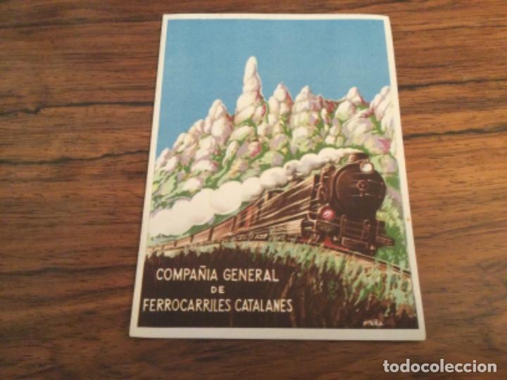 COMPAÑIA GENERAL DE FERROCARRILES CATALANES - ROMERIA A MONTSERRAT, TREN FUNICULAR AEREO. VIROLAI (Coleccionismo - Catálogos Publicitarios)