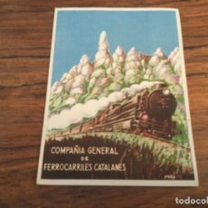 Catálogos publicitarios: COMPAÑIA GENERAL DE FERROCARRILES CATALANES - ROMERIA A MONTSERRAT, TREN FUNICULAR AEREO. VIROLAI. Lote 254328935