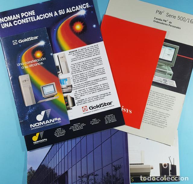 LOTE CATALOGOS Y TARIFAS DE PRECIOS INFORMATICA ORDENADORES AÑOS 90, COMPAQ GOLDSTAR Y EPSON, PC (Coleccionismo - Catálogos Publicitarios)