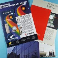 Catálogos publicitarios: LOTE CATALOGOS Y TARIFAS DE PRECIOS INFORMATICA ORDENADORES AÑOS 90, COMPAQ GOLDSTAR Y EPSON, PC. Lote 254355875