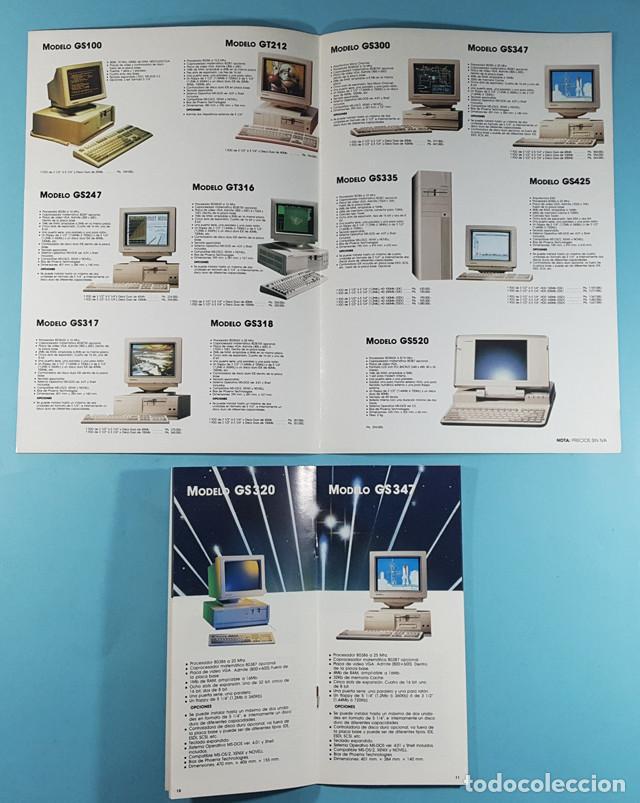 Catálogos publicitarios: LOTE CATALOGOS Y TARIFAS DE PRECIOS INFORMATICA ORDENADORES AÑOS 90, COMPAQ GOLDSTAR Y EPSON, PC - Foto 3 - 254355875